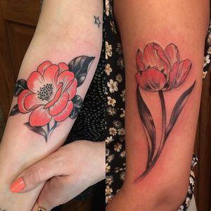 Delicate, by Stephanie Brown #StephanieBrown #flowertattoo #colourtattoo #flower #floral