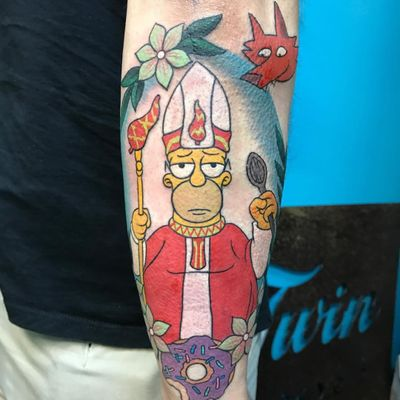 All hail the Pope of Chilitown. (Via IG - deborahbrodypittman) #thesimpsons