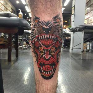 Demon-headed monster. (via IG - j__mckenna) #JamesMcKenna #surreal #haunting #scary
