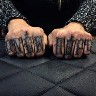 'A New Hope' Tattoo by Vince Le #lettering #script #darklettering #letteringartist #darkartist #VinceLe