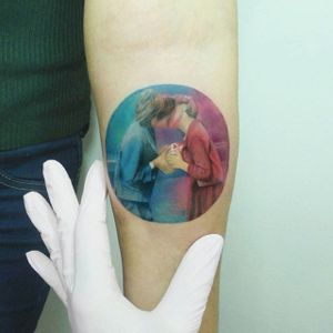 Micro piece by Andrea Morales #AndreaMorales #watercolor #micro #love #tattoooftheday