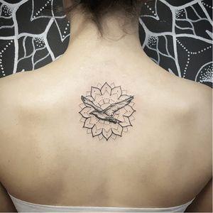 Bird tattoo by Alexey Rebrunov #AlexeyRebrunov #geometric #ornamental #bird #mandala #dotwork #blackwork