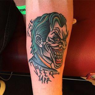 Joker Tattoo by Matt Andersson #joker #traditional #traditionalartist #oldschool #classic #boldwillhold #MattAndersson