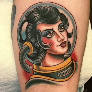 Space cadet. (via IG - dannyderrick) #DannyDerrick #Traditional #TraditionalLady
