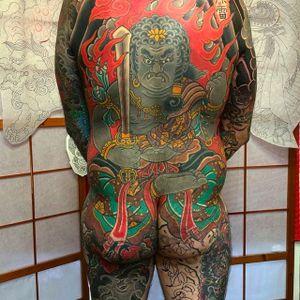 Fudo back tattoo. #FUDO #DavidRamirez #japanesetattoo #japanese #Japanesestyle