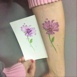 #ArthurOliveira #watercolor #aquarela #tatuadoresdobrasil #brasil #brazil #colorido #colorful #flor #flower #folha #leaf #botanica #botanical
