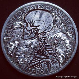 Coin Engraving by Shaun Hughes #coin #coinart #engraving #coinengraving #engravedcoin #engraved #engraver #engravingartist #ShaunHughes