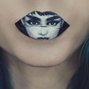 Audrey Hepburn Portrait Lip Art by @Ryankellymua #Lipart #Makeupart #Makeup #Ryankellymua #Portrait #Audreyhepburn
