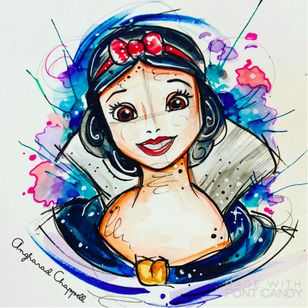 Snow White tattoo design by Angharad Chappell #AngharadChappell #SnowWhite #Disney