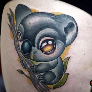 Koala tattoo by Rude Eye #RudeEye #newschool #animal #cute #kawaii #babyanimal #koala