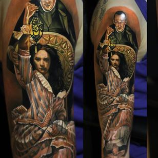 Fantastic tattoo by Giena Revess! #GienaRevess #realistic #realism #3D #photorealism