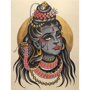 Sad Shiva via instagram olivia_olivier #shiva #goddess #Hinduism #snake #jewelry #flashart #oliviaolivier