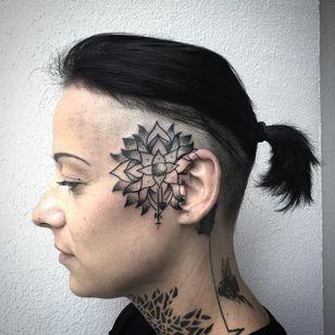 Mandala Tattoo by Marcel Birkenhauer #mandala #mandalatattoo #blackwork #blackworktattoo #blackink #blackworkartist #berlin #MarcelBirkenhauer