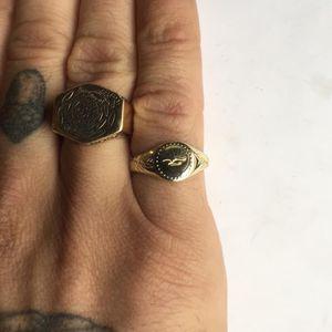 Pinky Ring from the Digby & Iona x Slowerblack collaboration (photo via Aaron Ruff) #digbyandiona #slowerblack #JennaBouma #jewelry #tattooinspired