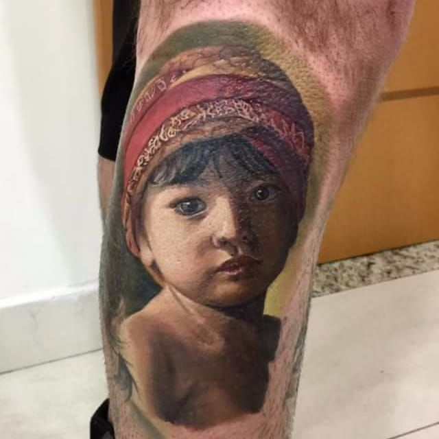 Por Deley Tattoo! #DeleyTattoo #TatuadoresBrasileiros #Realism #realistictattoo #childtattoo