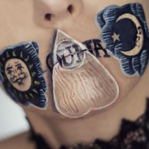 Ouija Lip Art by @Ryankellymua #Lipart #Makeupart #Makeup #Ryankellymua #Ouija