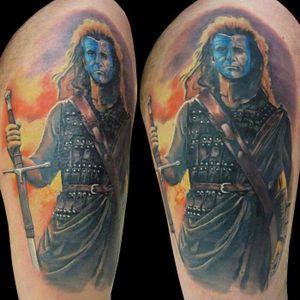 Braveheart Tattoo, unknown artist #Braveheart #BraveheartTattoo #MelGibson as #WilliamWallace #Portrait #MoviePortraits