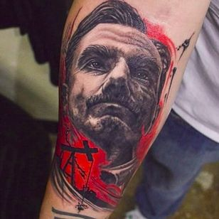 There Will Be Blood tattoo by Eric Guidry (via IG -- ericguidryart) #ericguidry #therewillbeblood #paulthomasanderson