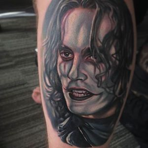 Brandon Lee in The Crow, tattoo by Bryan Merck. #BryanMerck #TheCrow #Tattoo