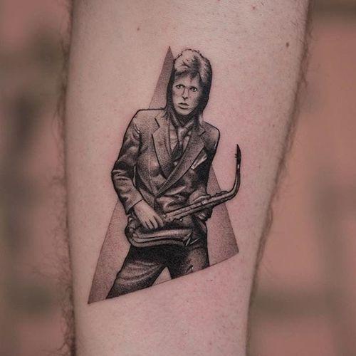 David Bowie by Fillipe Pacheco #FillipePacheco #blackandgrey #portrait #DavidBowie #tattoooftheday