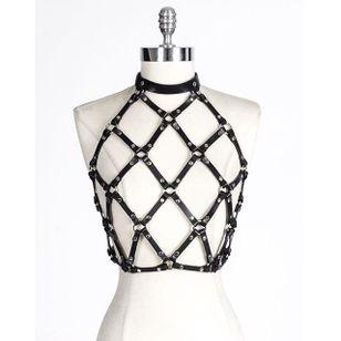 Pamela Top by Zana Bayne (via IG-zanabayne) #harness #bdsm #leather #luxuryfashion #fashion #zanabayne
