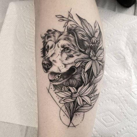 #CuttyBage #gringa #blackwork #sketch #pontilhismo #dotwork #dog #cao #cachorro #doglover #pet #petlover #flor #flwoer #folha #leaf