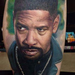 Por Deley Tattoo! #DeleyTattoo #TatuadoresBrasileiros #Realism #realistictattoo #denzelwashington