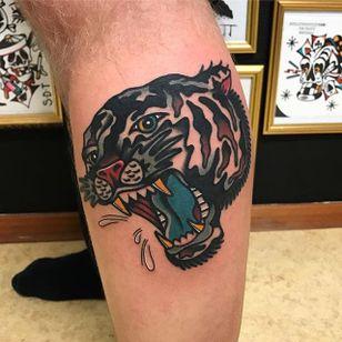 Tiger Tattoo by Matt Andersson #tiger #traditional #traditionalartist #oldschool #classic #boldwillhold #MattAndersson