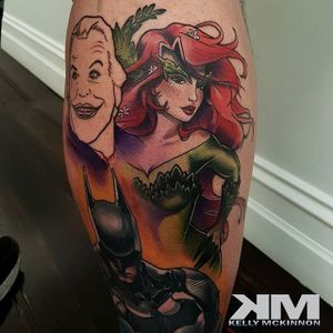 Poison Ivy Tattoo by Kelly Mckinnon #poisonivy #posionivypinup #pinup #batman #dc #comics #comicbook #KellyMckinnon