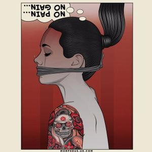 Illustration by Matt Edwards #MattEdwards #art #digitalart #illustration #pinupgirl #tattooedwoman