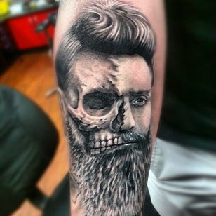 Ned Kelly Tattoo by Nate Cant #NedKelly #NedKellyTattoo #OutlawTattoo #FolkloreTattoos #AustralianTattoos #NateCant