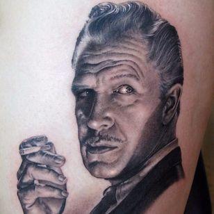 Vincent Price. (via IG - shaneoneilltattooist) #portraits #shaneoneill #blackandgrey #VincentPrice