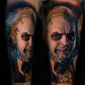"""""""I'm the ghost with the most, babe."""" by Nikko Hurtado (via IG-nikkohurtado) #beetlejuice #nevertrusttheliving #timburton #color #portrait #ghosts"""
