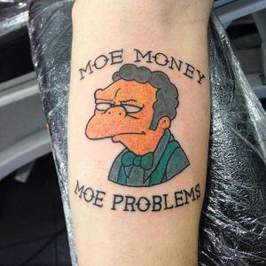 Moe Szyslak Tattoo by @arietti.tattoo #MoeSyzslak #MoeSzyszlakTattoo #SimpsonsTattoos #TheSimpsons #Simpsons #SpringfieldTattoos #AriettiTattoo