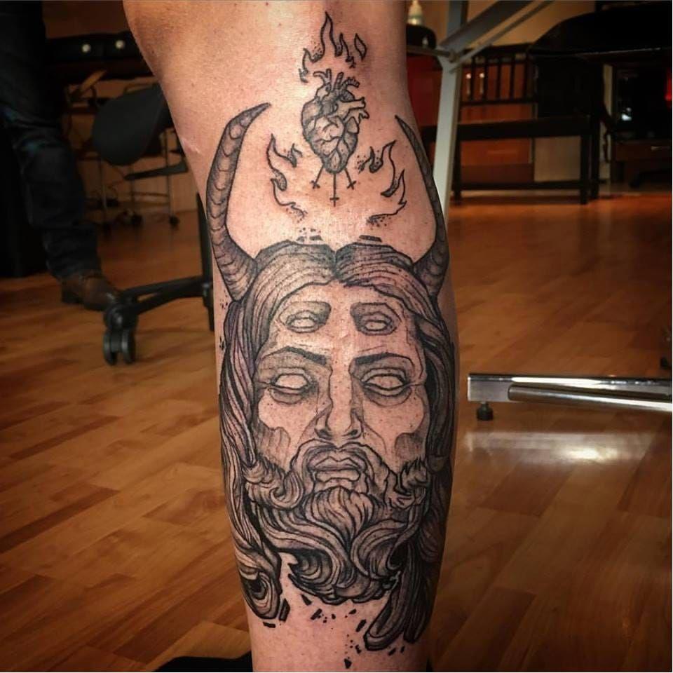 Evil tattoo by Ergo Nomik #ErgoNomik #blackwork