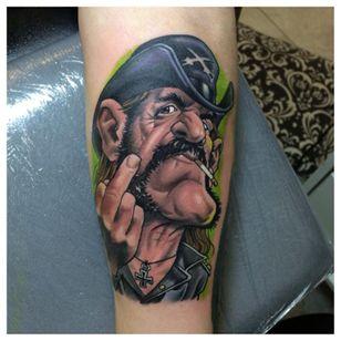 New school Lemmy tattoo by Fredde #Fredde #motörhead #motorhead #lemmy #newschool