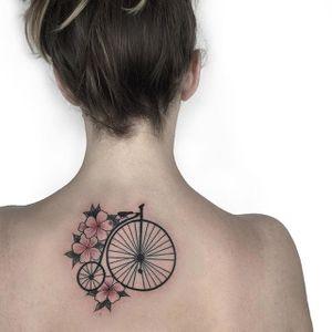 Bike tattoo by Ana Godoy. #bike #fixie #biker #cyclist #biking #sport