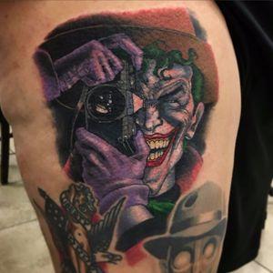 Killing Joke Tattoo by Tyler Turnbull #thekillingjoke #killingjoke #batman #batmanjoker #joker #dccomics #comicbook #TylerTurnbull