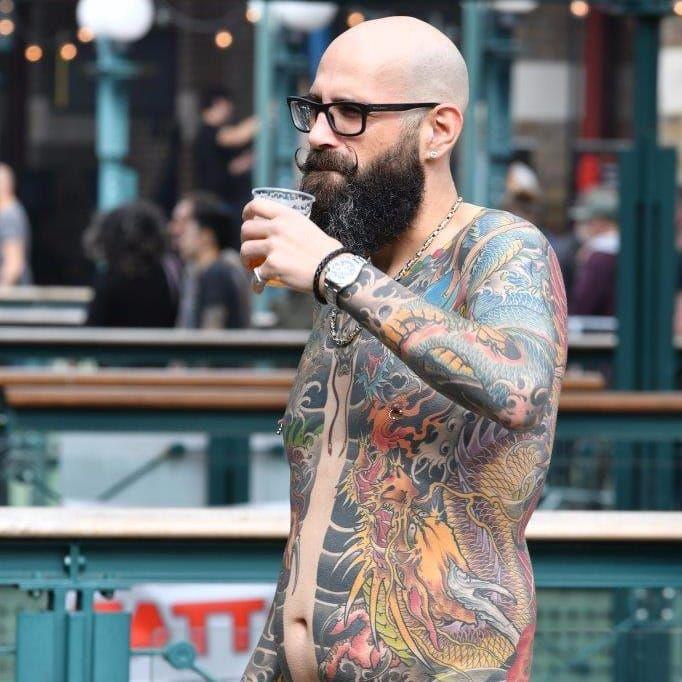 Amazing bodysuits on display at London Tattoo Convention (photo: London Tattoo Convention) #LondonTattooConvention #Japanese #BodySuit