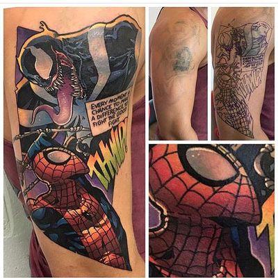 Andy Walker e a cobertura Comics! #AndyWalker #coverups #coberturas #homemaranha #spiderman #venom #comics #hqs #marvel #nerd #quadrinhos #colorida #colorful