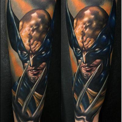 A Jim Lee inspired Wolverine by Audie Fulfer Jr. (Via IG - audietattoos) #AudieFulfer #wolverine #xmen