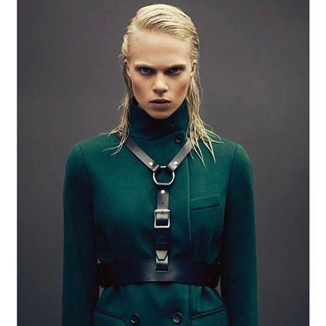 Gemini Harness by Zana Bayne (via IG-zanabayne) #harness #bdsm #leather #luxuryfashion #fashion #zanabayne