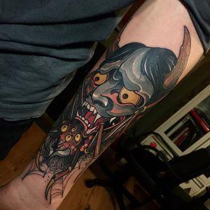 Hannya Tattoo by Alejandro Lopez #hannya #hannyatattoo #neotraditionalhannya #neotraditional #neotraditionaltattoo #neotraditionaltattoos #neotraditonalartist #AlejandroLopez