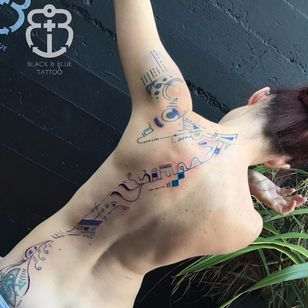 Abstract tattoo by Idexa Stern #IdexaStern #contemporary #abstract #graphic