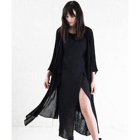 Dress and Shawl by Morph Knitwear (via IG-morphknitwear) #knitwear #knits #handknit #fashion #accessories #MorphKnitwear