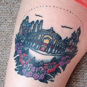 Disneyland tattoo by Just Jen. #disney #disneyland #castle #waltdisney