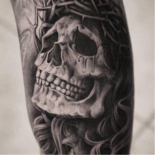 OG Abel tattoo by Miguel Ochoa #OGAbel #art #chicano #blackandgrey #MiguelOchoa #skull