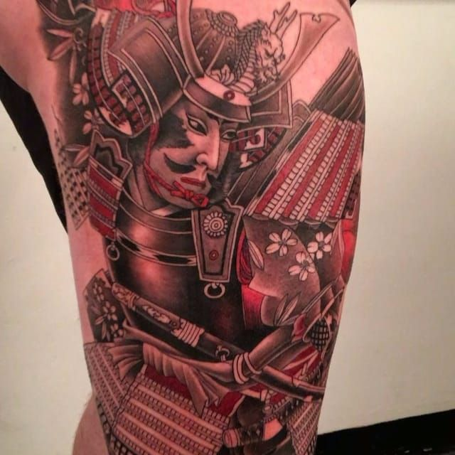 A tattoo of a realistic samurai in progress via Nicklas Westin (IG—nicklaswestin). #Irezumiinspired #neoJapanese #NicklasWestin #samurai