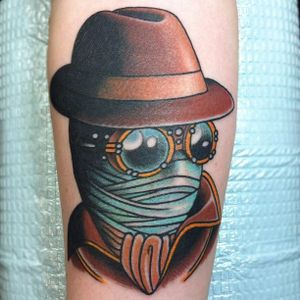 Invisible Man Tattoo by Jesse Strother #theinvisibleman #invisibleman #invisiblemantattoo #hgwells #hgwellstattoo #booktattoo #literature #charactertattoo #scifi #scifitattoo #JesseStrother