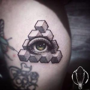 #ZoeClark #olhoquetudove #allseeingeye #eyetahtseeall #olhodaprovidencia #pontilhismo #dotwork #geometria #geometric